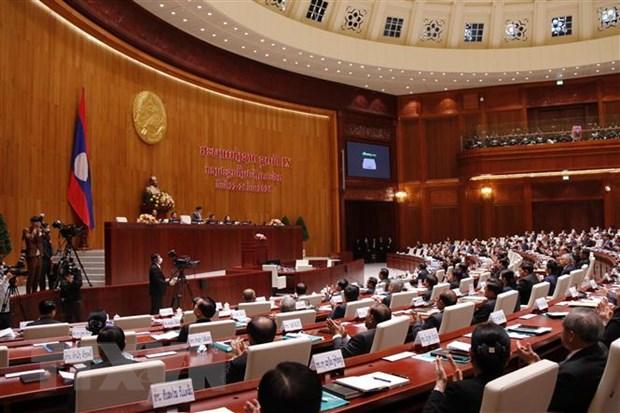 Quang cảnh kỳ họp thứ nhất Quốc hội khóa IX của Lào. Ảnh: Phạm Kiên/TTXVN