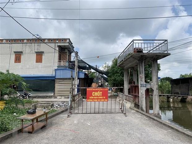 Nam Dinh, Hung Yen gian cach xa hoi khu vuc co benh nhan COVID-19 hinh anh 1