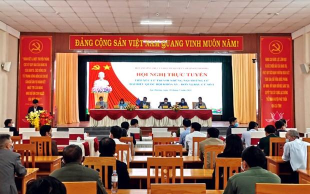 Hoa Binh, Lam Dong, Dak Lak tiep xuc cu tri theo hinh thuc truc tuyen hinh anh 2