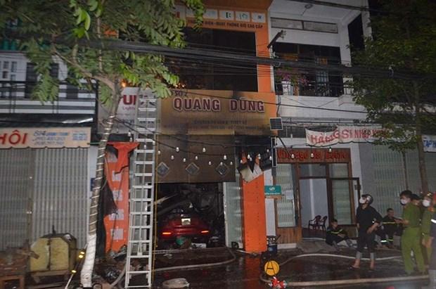 Quang Ngai: Chay cua hang trong dem, 4 nguoi trong gia dinh tu vong hinh anh 1