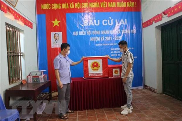 Ha Noi: Hoan tat cong tac chuan bi bau cu lai o xa Trang Viet, Me Linh hinh anh 1