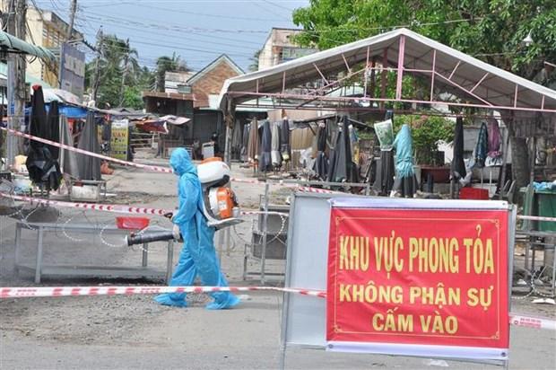 Tien Giang: Phong toa them xa My Hanh Dong de phong, chong COVID-19 hinh anh 1