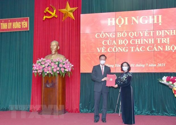 Ong Nguyen Huu Nghia duoc dieu dong lam Bi thu Tinh uy Hung Yen hinh anh 1