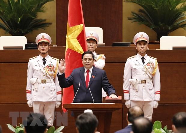 Thu tuong Campuchia gui Thu chuc mung Thu tuong Pham Minh Chinh hinh anh 1