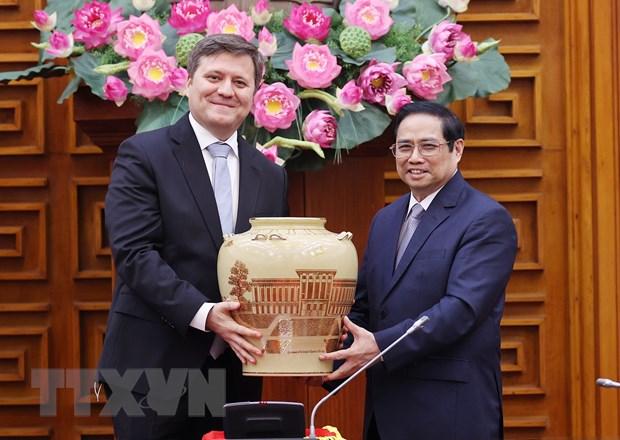 Thu tuong Chinh phu Pham Minh Chinh tiep Dai su Ba Lan hinh anh 1