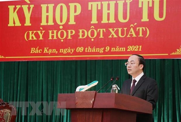 Phe chuan Chu tich UBND tinh Bac Kan nhiem ky 2021-2026 hinh anh 1