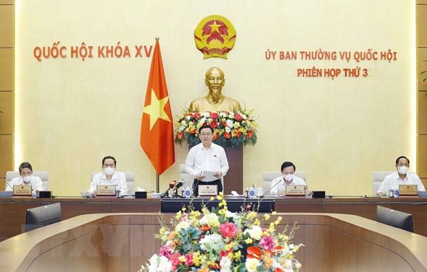 Be mac Phien hop thu ba cua Uy ban Thuong vu Quoc hoi hinh anh 1