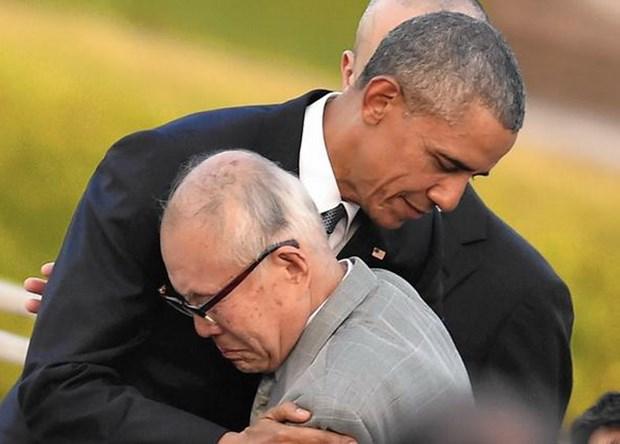 Chuyen tham Nhat cua ong Obama va su khac biet ve loi xin loi hinh anh 2