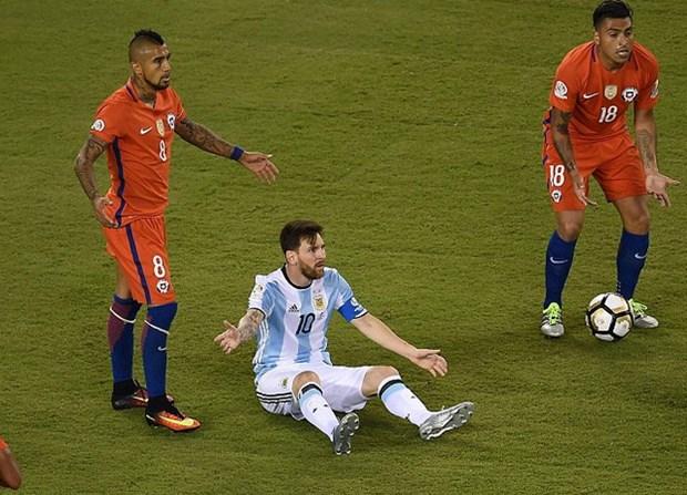 Messi da choi duoi suc trong tran dau quan trong nhat Copa hinh anh 1