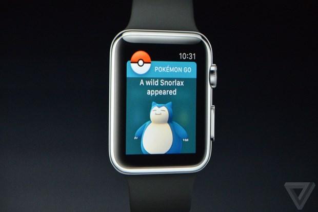 Tro choi Pokemon Go se cap ben dong ho thong minh Apple Watch hinh anh 1