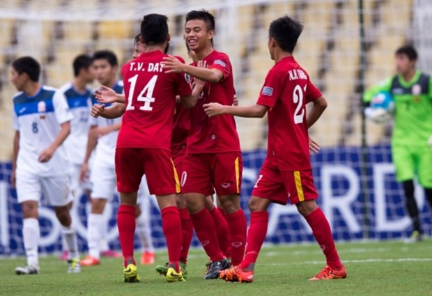 Ha U16 Kyrgyzstan, U16 Viet Nam thang tien tu ket U16 chau A hinh anh 1