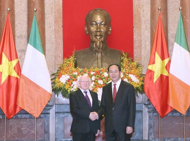 Chu tich nuoc Tran Dai Quang hoi dam voi Tong thong Ireland hinh anh 1