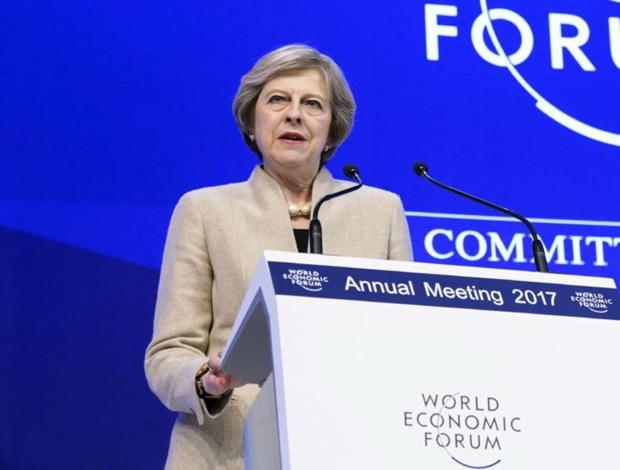 Van de Brexit lam nong Dien dan Kinh te the gioi tai Davos hinh anh 1