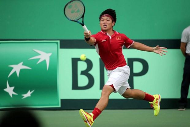 Tuyen quan vot Viet Nam that bai truoc Hong Kong tai Davis Cup hinh anh 1