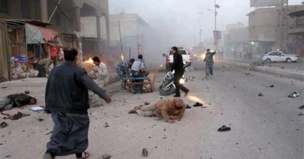 Nhom IS danh bom xe tai thu do cua Iraq khien 10 nguoi thiet mang hinh anh 1