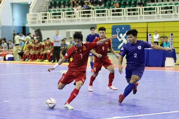 Can canh chien thang ky luc 24-0 cua doi tuyen Futsal Viet Nam hinh anh 1