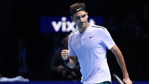 Roger Federer som gianh ve vao ban ket giai ATP Finals 2017 hinh anh 1
