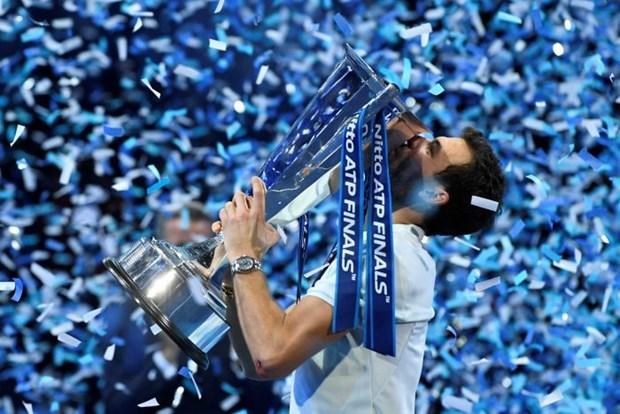 Ha David Goffin, Grigor Dimitrov lan dau dang quang ATP Finals hinh anh 1