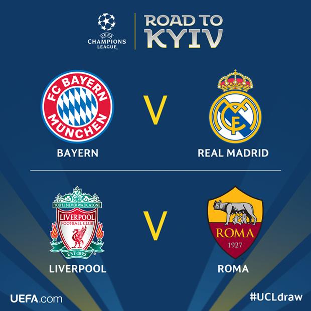 Ban ket Champions League: Bayern tai ngo Real, Liverpool gap Roma hinh anh 2