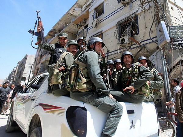 Syria: Phien quan se roi khoi dia ban gan thu do Damascus hinh anh 1
