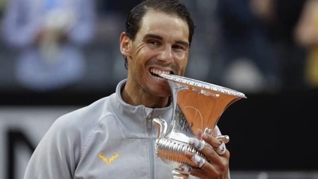 Nadal 'bung tinh' sau con mua, dang quang Rome Masters kich tinh hinh anh 1