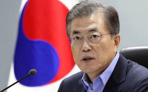 Ty le ung ho Tong thong Han Quoc Moon Jae-in tang manh hinh anh 1