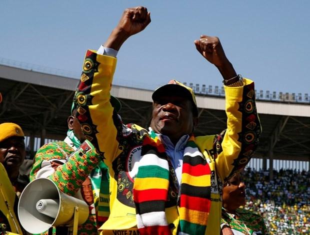 Tong thong Nam Phi chuc mung Tong thong Zimbabwe tai dac cu hinh anh 1