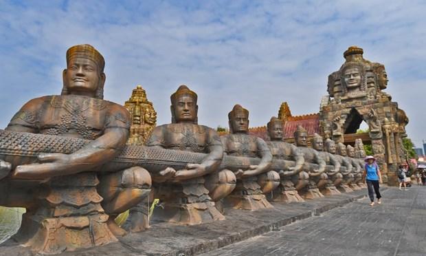 Den Angkor Wat noi tieng Campuchia bat ngo xuat hien o Trung Quoc hinh anh 2