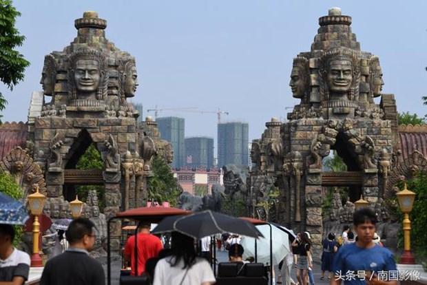 Den Angkor Wat noi tieng Campuchia bat ngo xuat hien o Trung Quoc hinh anh 5
