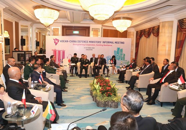 ADMM 12: ASEAN day manh hop tac quoc phong voi My, Trung Quoc hinh anh 1