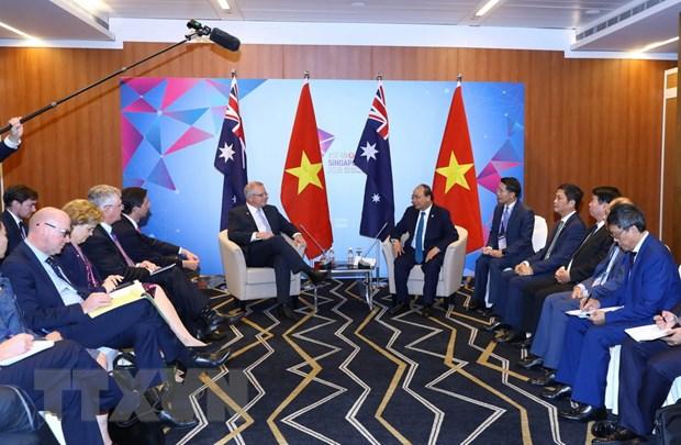 Thu tuong Nguyen Xuan Phuc tiep Thu tuong Australia Scott Morrison hinh anh 2
