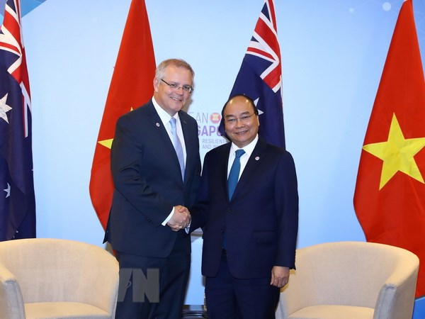 Thu tuong Nguyen Xuan Phuc tiep Thu tuong Australia Scott Morrison hinh anh 1
