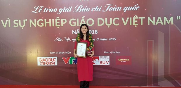 VietnamPlus doat giai bao chi 'Vi su nghiep Giao duc Viet Nam' hinh anh 1