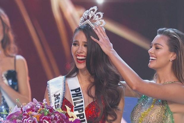 Khoanh khac nguoi dep Philippines dang quang Miss Universe hinh anh 1