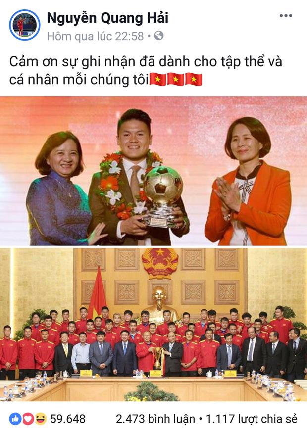 Quang Hai va dong doi noi gi sau le trao giai Qua bong vang? hinh anh 2