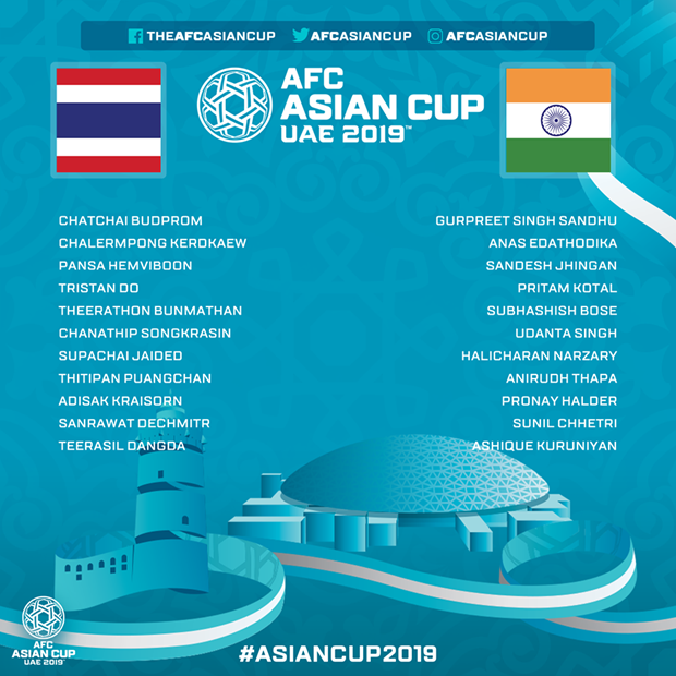 Xem truc tiep tran dau Thai Lan - An Do tai Asian Cup 2019 hinh anh 2