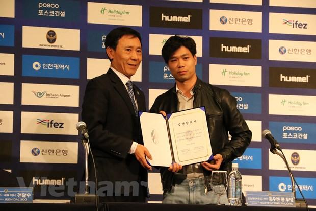 Cong Phuong chinh thuc ra mat co dong vien Incheon United hinh anh 2