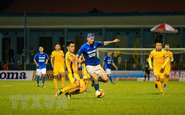 Vong 3 V-League 2019: Than Quang Ninh thang dam Thanh Hoa hinh anh 1
