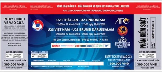 Cong bo gia ban ve xem cac tran cua U23 Viet Nam tai vong loai hinh anh 1