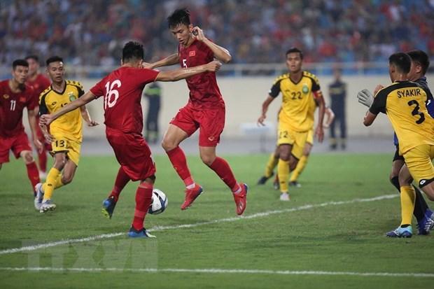 Thang dam U23 Brunei 6-0, U23 Viet Nam chiem ngoi dau bang hinh anh 1