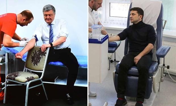 [Video] Tong Thong Ukraine Poroshenko di thu mau truoc bau cu vong 2 hinh anh 1