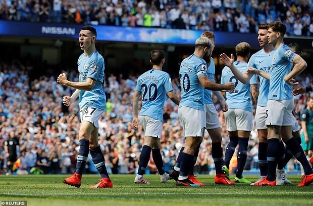 'Phuc han' Tottenham, Man City tai chiem ngoi dau Premier League hinh anh 1