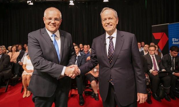 Australia: Lanh dao doi lap gianh uu the o cuoc tranh luan truc tiep hinh anh 1