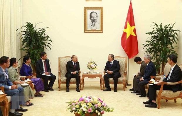Pho Thu tuong tiep Bo truong Bo Le nghi va Ton giao Campuchia hinh anh 1