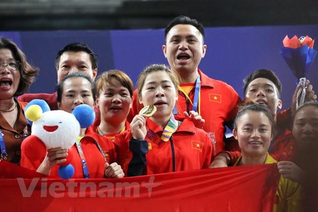 SEA Games 30: Hoang Thi Duyen gianh huy chuong Vang Cu ta hinh anh 1
