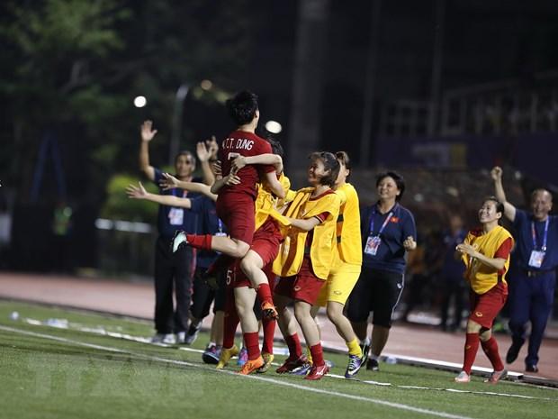 Tuyen nu Viet Nam 'dai chien' Thai Lan o chung ket SEA Games 30 hinh anh 6
