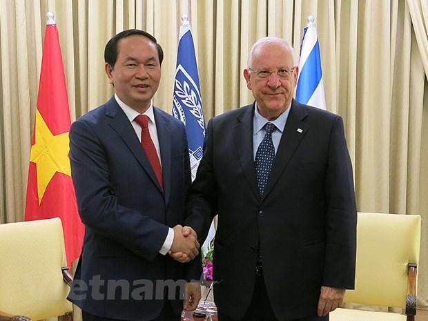 Bo truong Tran Dai Quang tham va lam viec tai Israel hinh anh 1