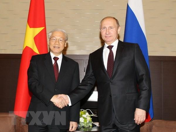 Tong Bi thu Nguyen Phu Trong hoi dam voi Tong thong Nga Putin hinh anh 1