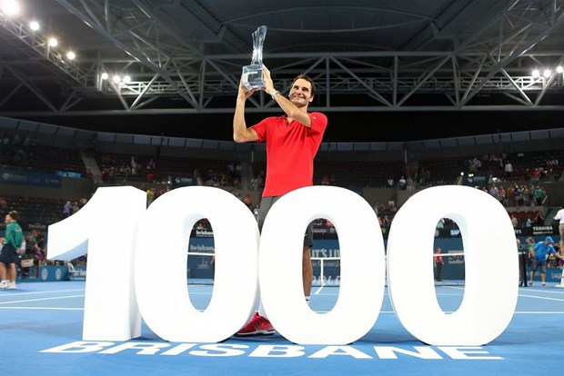 Federer vo dich Brisbane trong ngay can moc 1.000 chien thang hinh anh 1