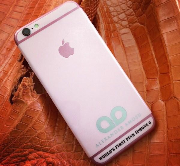 iPhone hong cao cap dau tien tren the gioi cho le Tinh nhan hinh anh 1